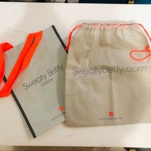 NEVER USED Sweaty Betty reusable + drawstring bag